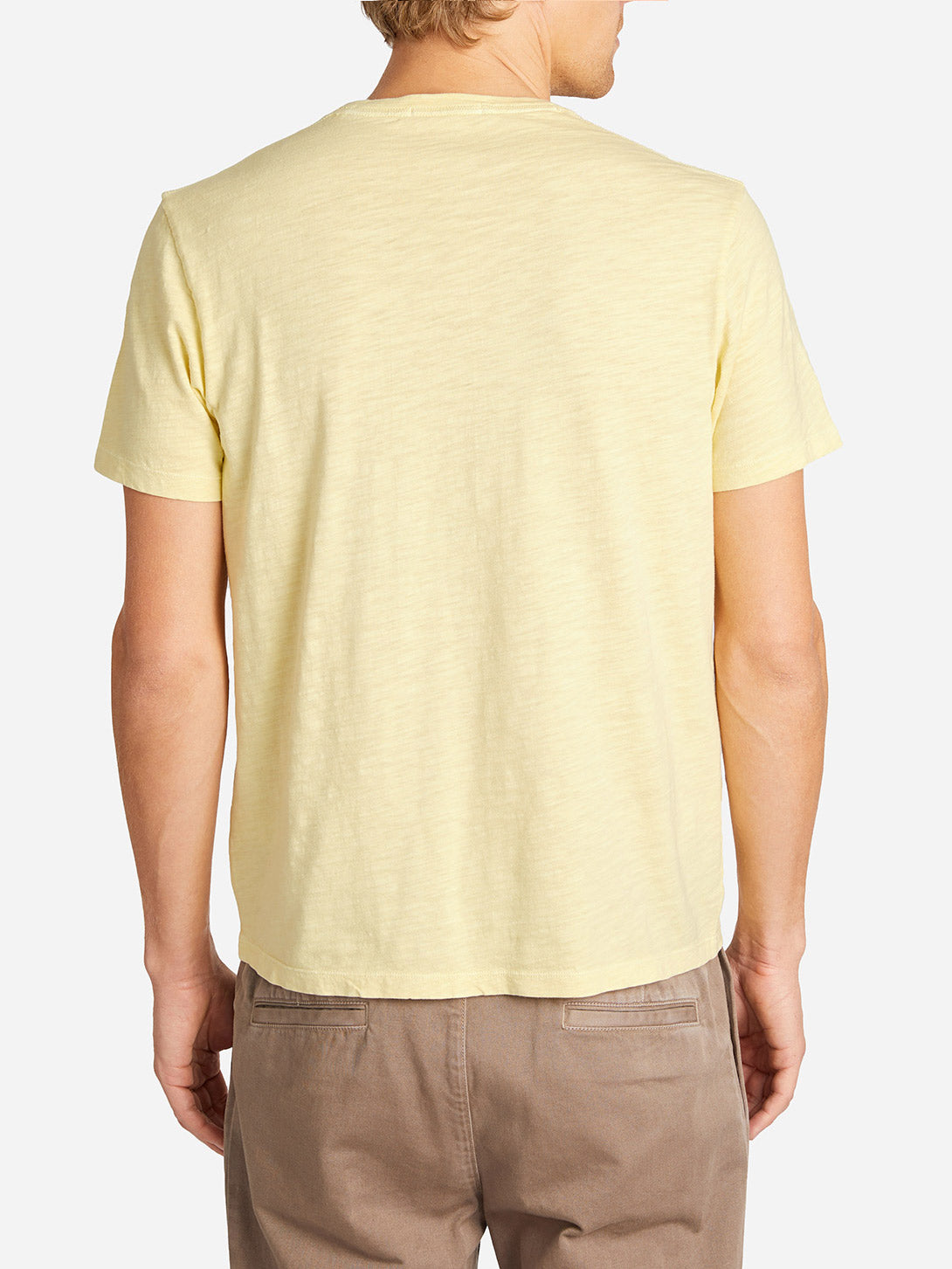 BOWERY SLUB POCKET TEE CREAM YELLOW HERITAGE LINE