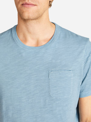 BOWERY SLUB POCKET TEE BLUE SHADOW HERITAGE LINE