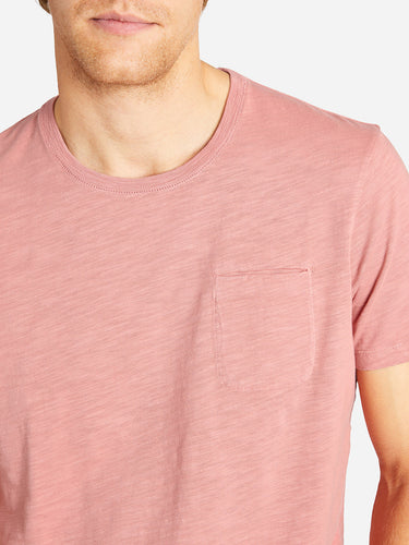 BOWERY SLUB POCKET TEE DUSTY ROSE HERITAGE LINE