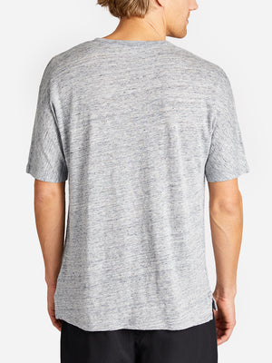 HIGHLAND DOLMAN LINEN TEE CEMENT HEATHER GREY LABEL