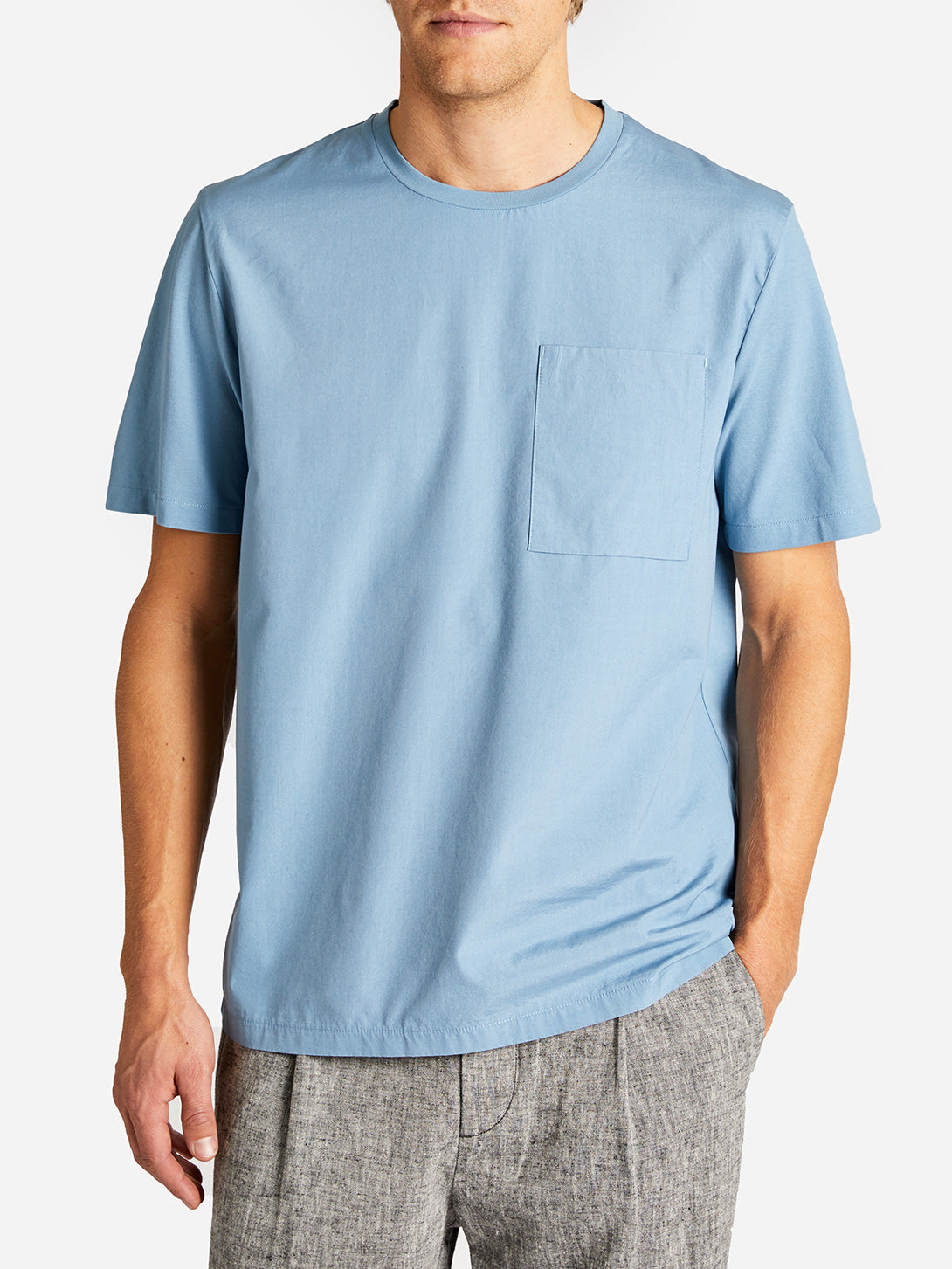 LENOX POCKET TEE CADET BLUE ONS CLOTHING GREY LABEL