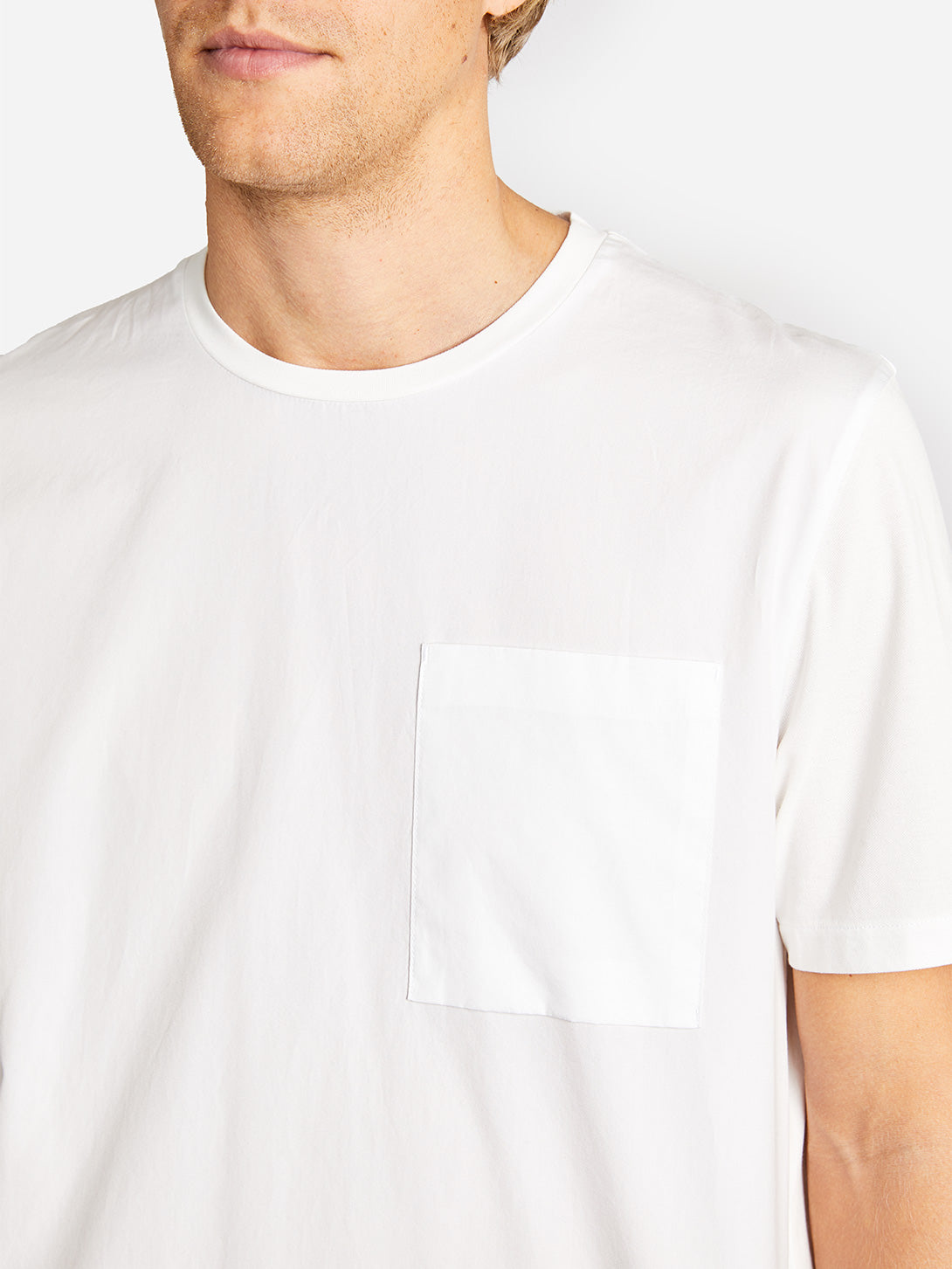 LENOX POCKET TEE OPTIC WHITE ONS CLOTHING GREY LABEL