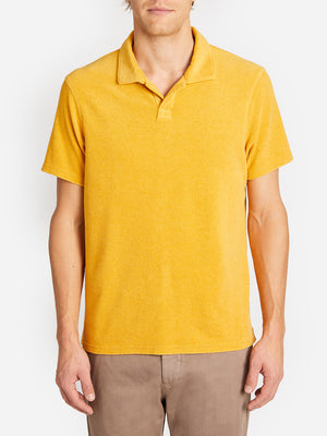 REVERSE TERRY POLO YELLOW ONS CLOTHING