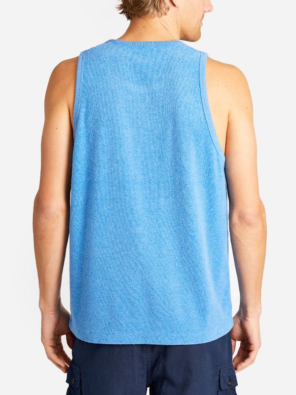 REVERSE TERRY TANK BLUE ONS CLOTHING
