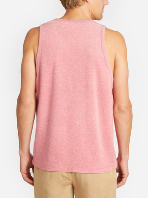 REVERSE TERRY TANK PINK ONS CLOTHING