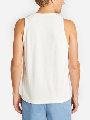 REVERSE TERRY TANK WHITE ONS CLOTHING