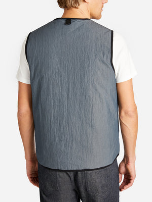 HERRON PACKABLE VEST SLATE ONS CLOTHING GREY LABEL