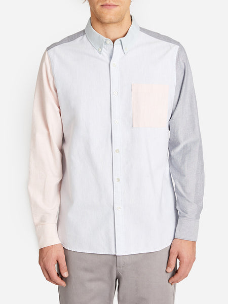 COLOR BLOCKING FULTON SHIRT LT. BLUE
