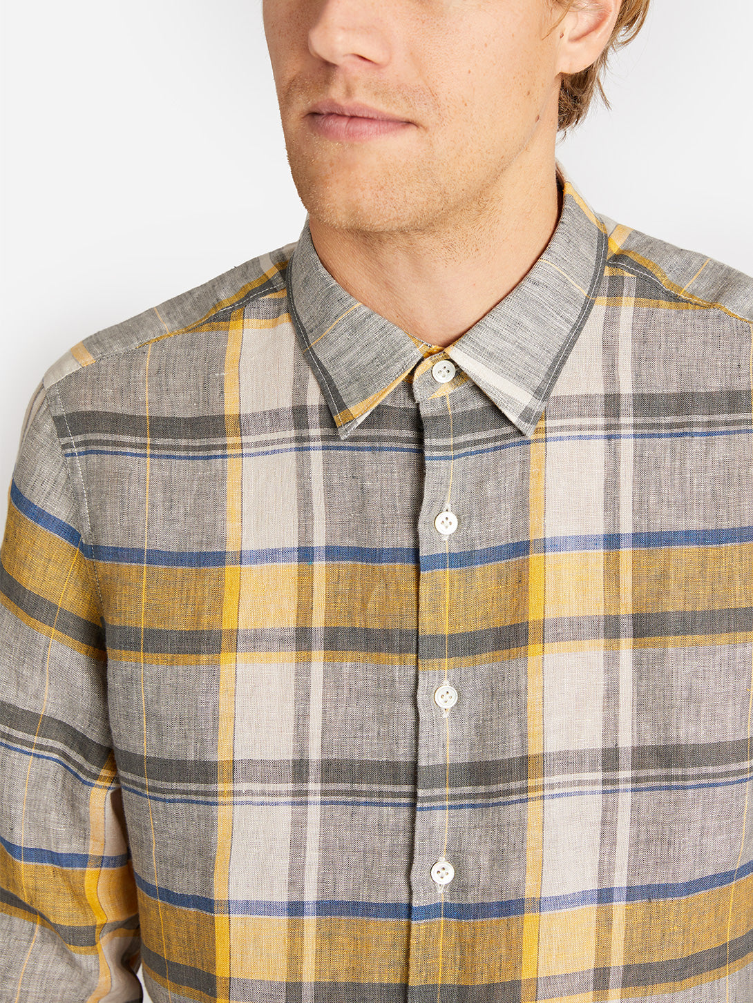 ADRIAN CHECK SHIRT YELLOW