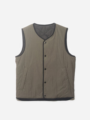 HERRON PACKABLE VEST OLIVE ONS CLOTHING GREY LABEL