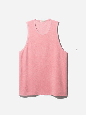 REVERSE TERRY TANK PINK ONS MENS CLOTHING