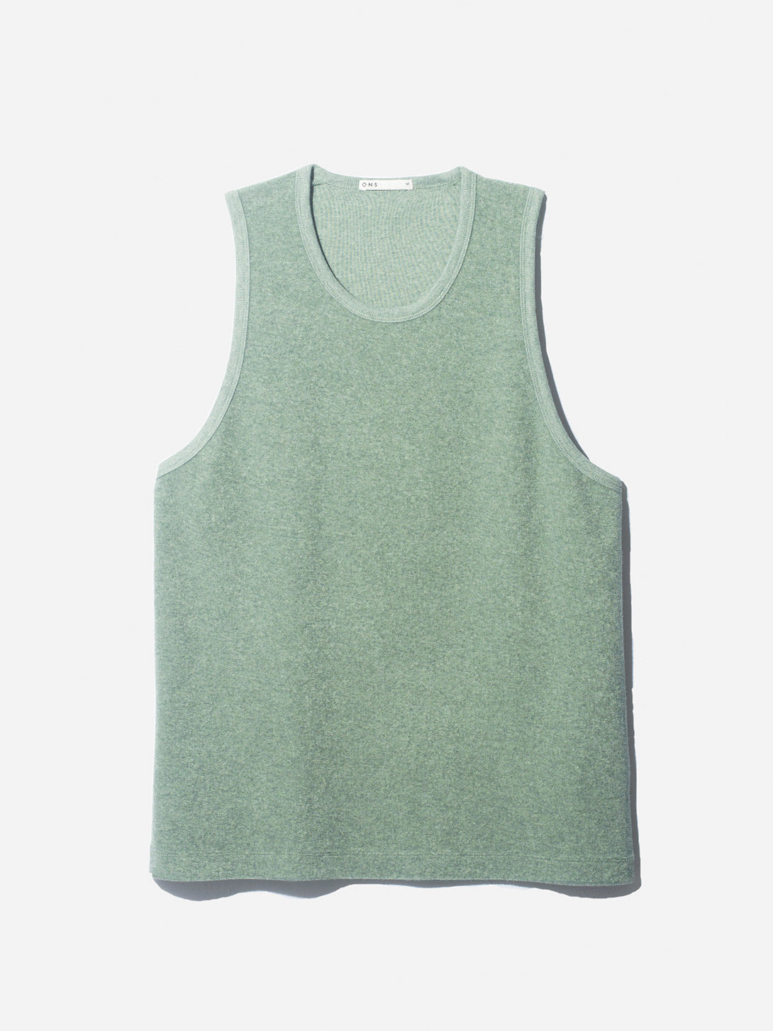 REVERSE TERRY TANK SAGE ONS CLOTHING