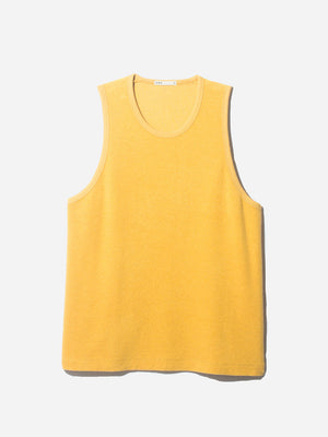 REVERSE TERRY TANK YELLOW ONS CLOTHING