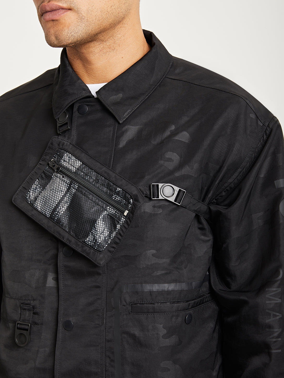 BLACK ONS x DTT creative live collaboration nylon tech jacket