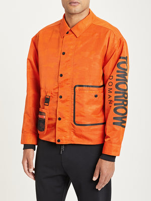 ORANGE ONS x DTT creative live collaboration nylon tech jacket