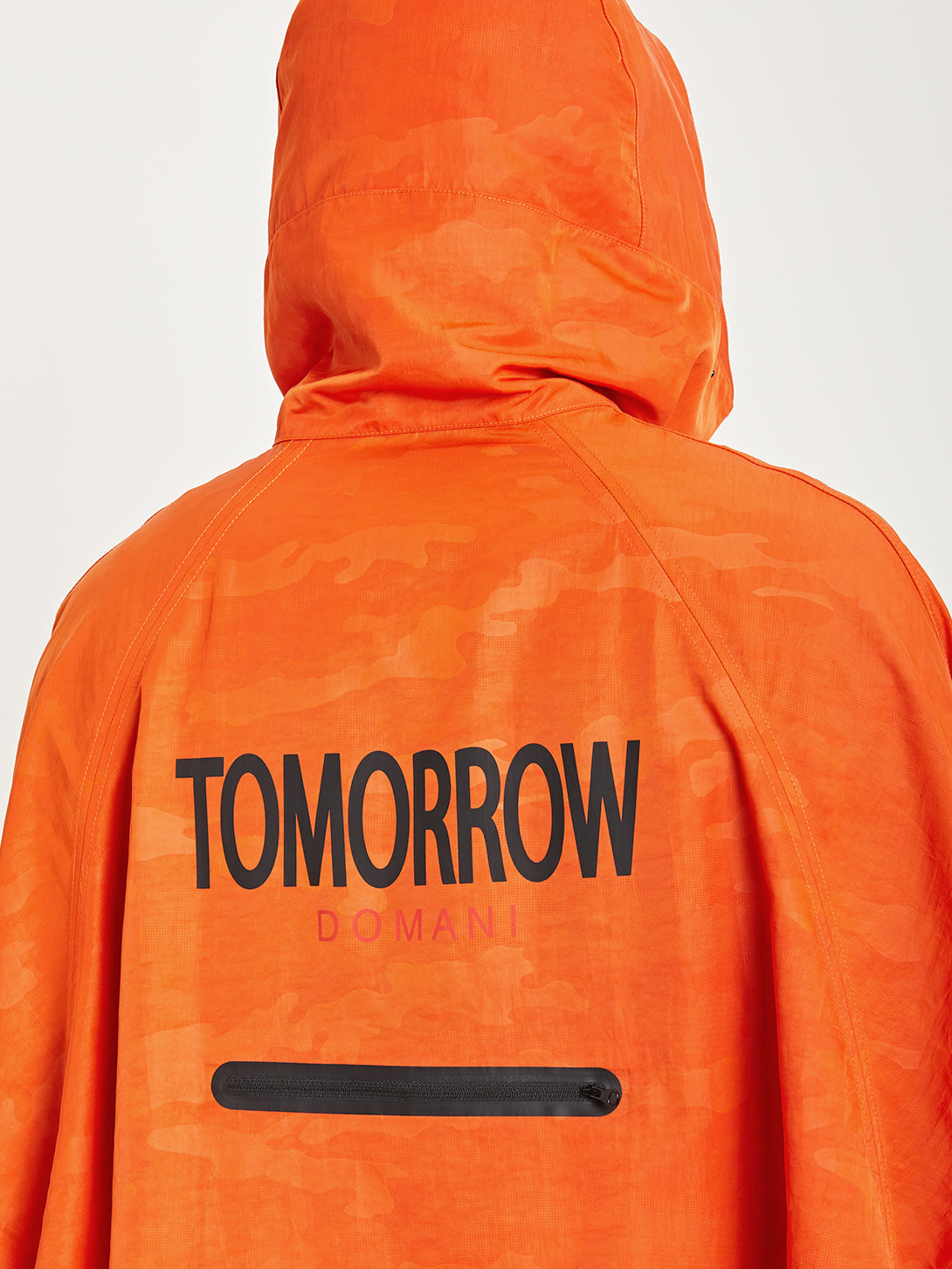 ORANGE DTT x ONS creative lab fin first poncho