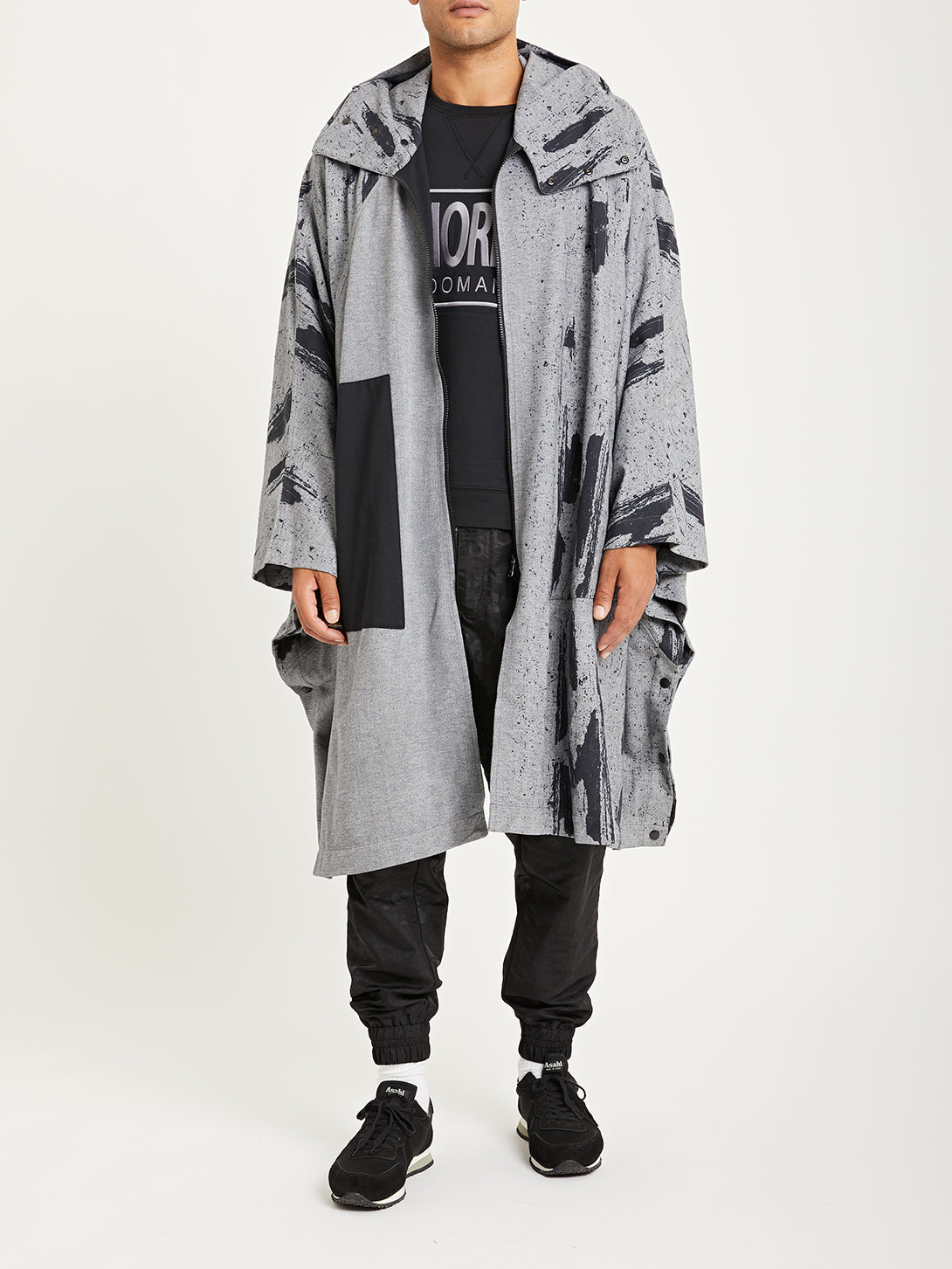 TREAD CAMO ONS x DTT creative live collaboration  double knit poncho
