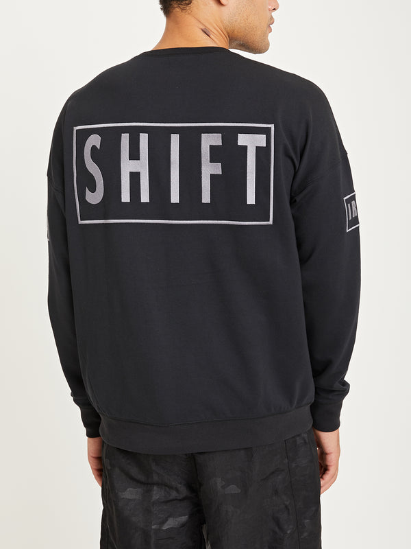 BLACK ONS x DTT creative live collaboration crewneck sweatshirt