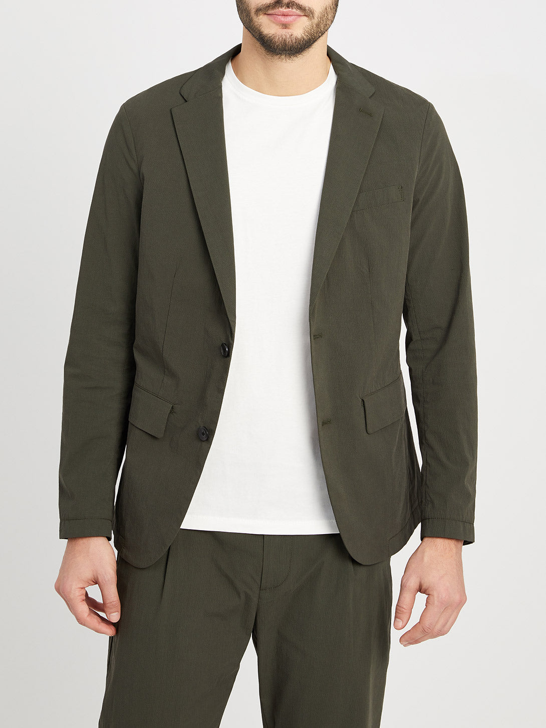 DARK OLIVE blazers for men conduit packable blazer ons clothing