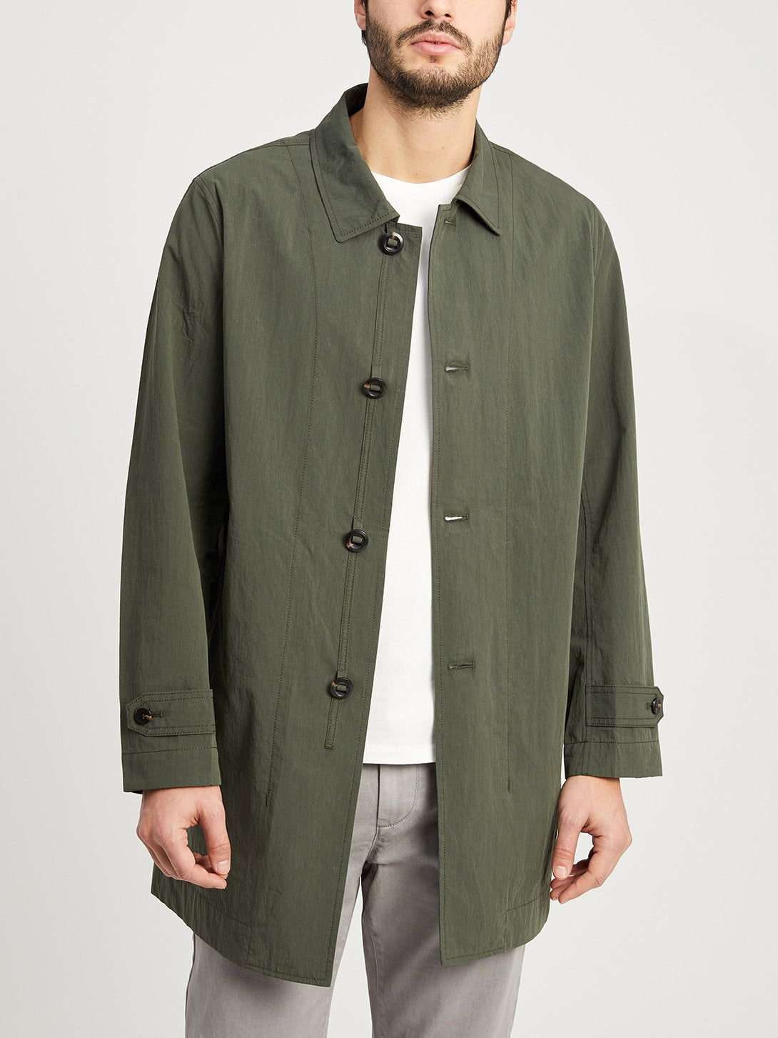 DARK OLIVE jackets for men marion trench ons clothing