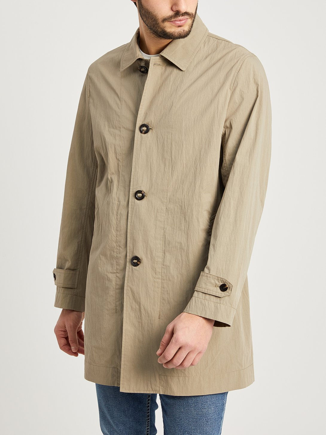 CEMENT GREY jackets for men marion trench ons clothing