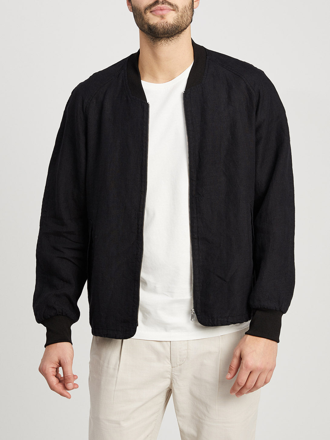 JET BLACK jackets for men lora bomber ons clothing