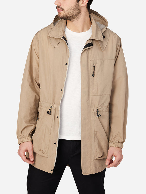 KHAKI jackets for men mariner packable parka ons clothing