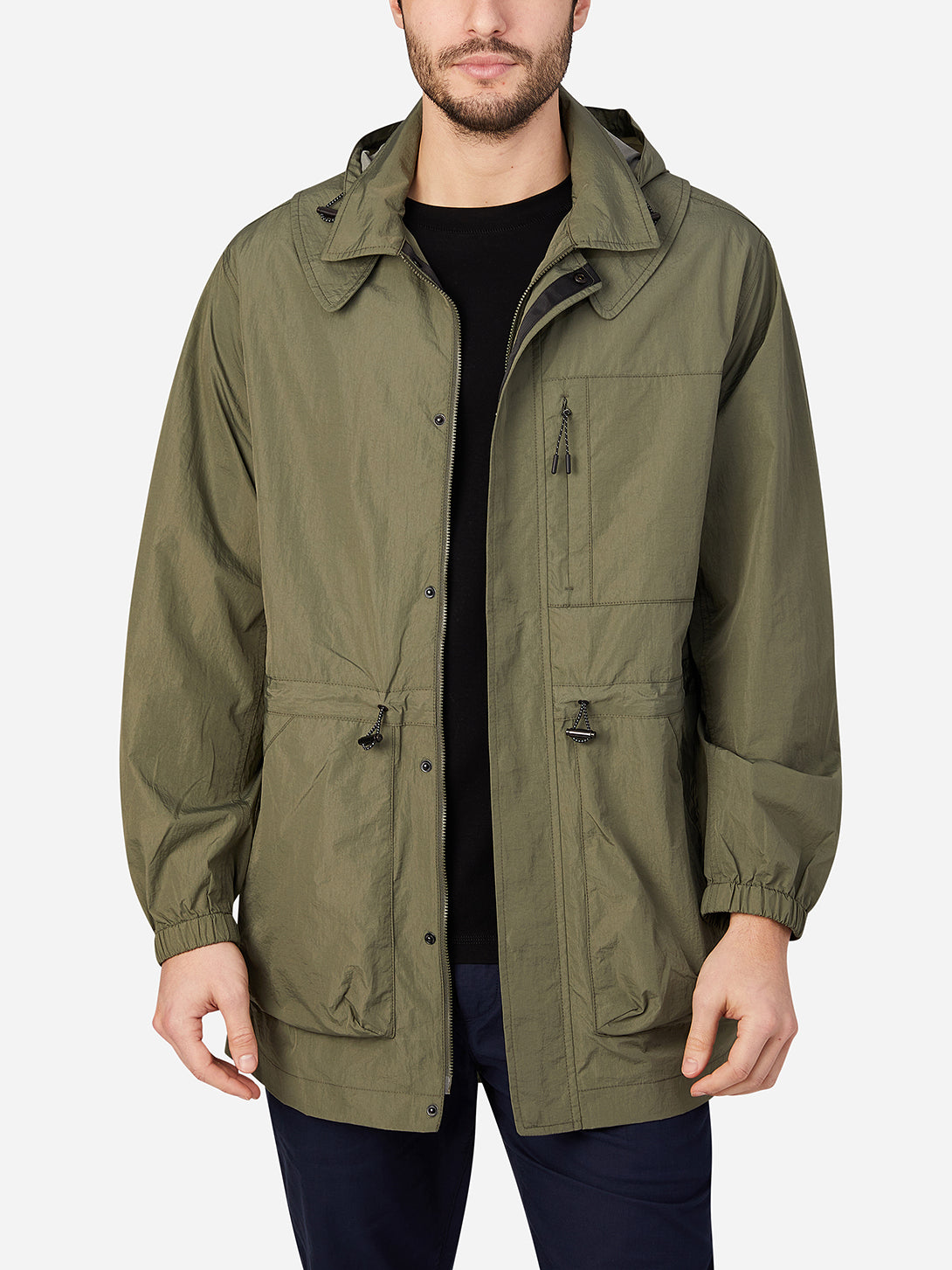 OLIVE GREEN jackets for men mariner packable parka ons clothing