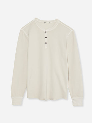 ONS Clothing Men's COURT WAFFLE HENLEY in BEIGE