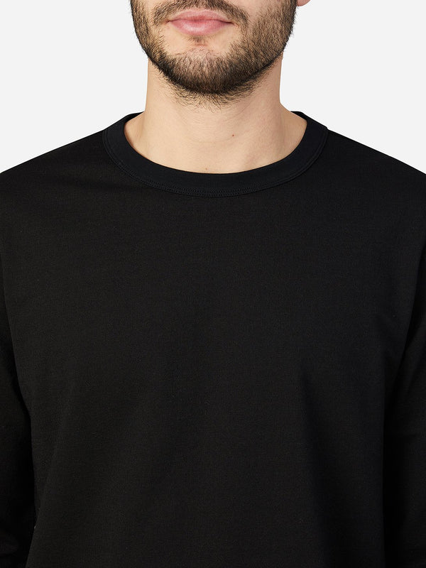JET BLACK long sleeve shirt for men torrey crew neck tee ons clothing