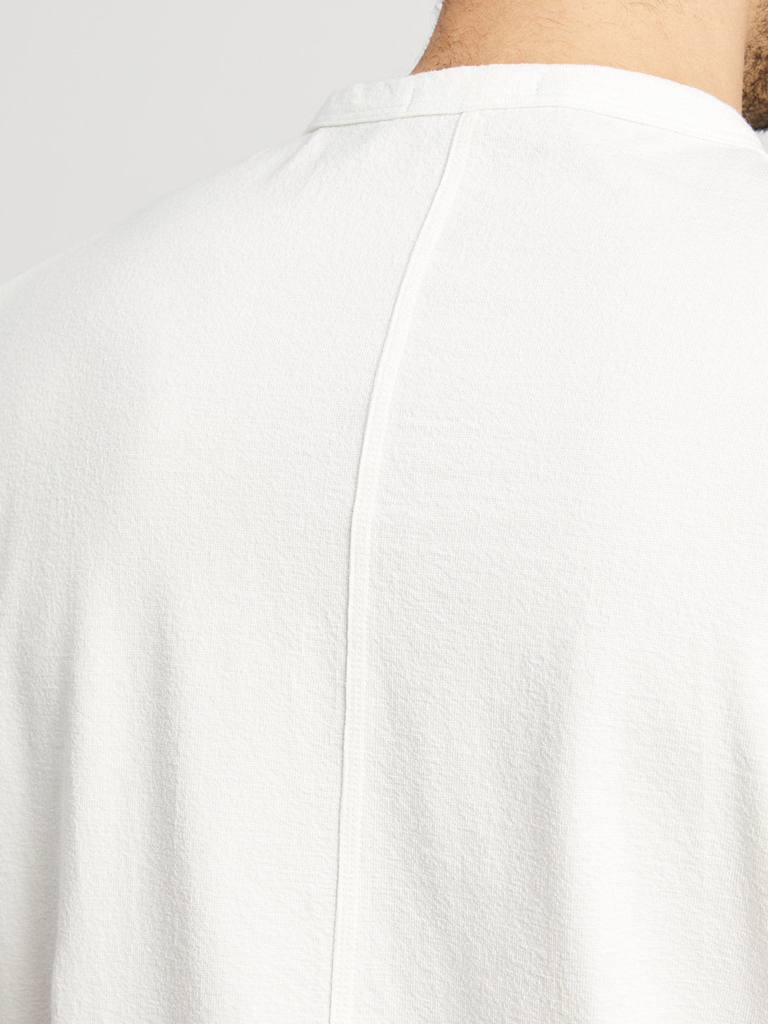 WHITE long sleeve shirt for men torrey crew neck tee ons clothing