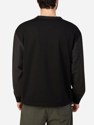 JET BLACK long sleeve shirt for men hilden crew neck pullover ons clothing