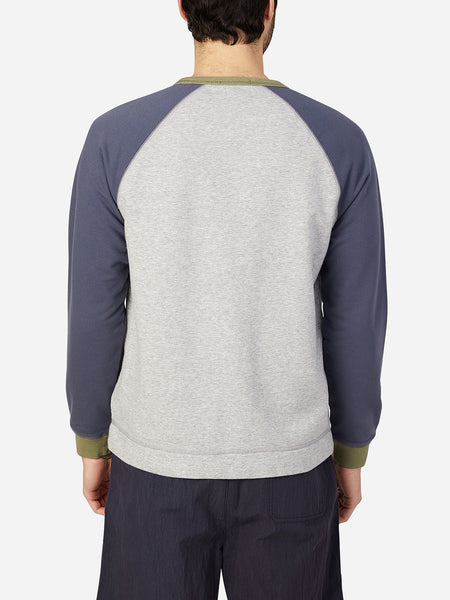 HEATHER GRAY long sleeve shirt for men deon crew neck pullover ons clothing