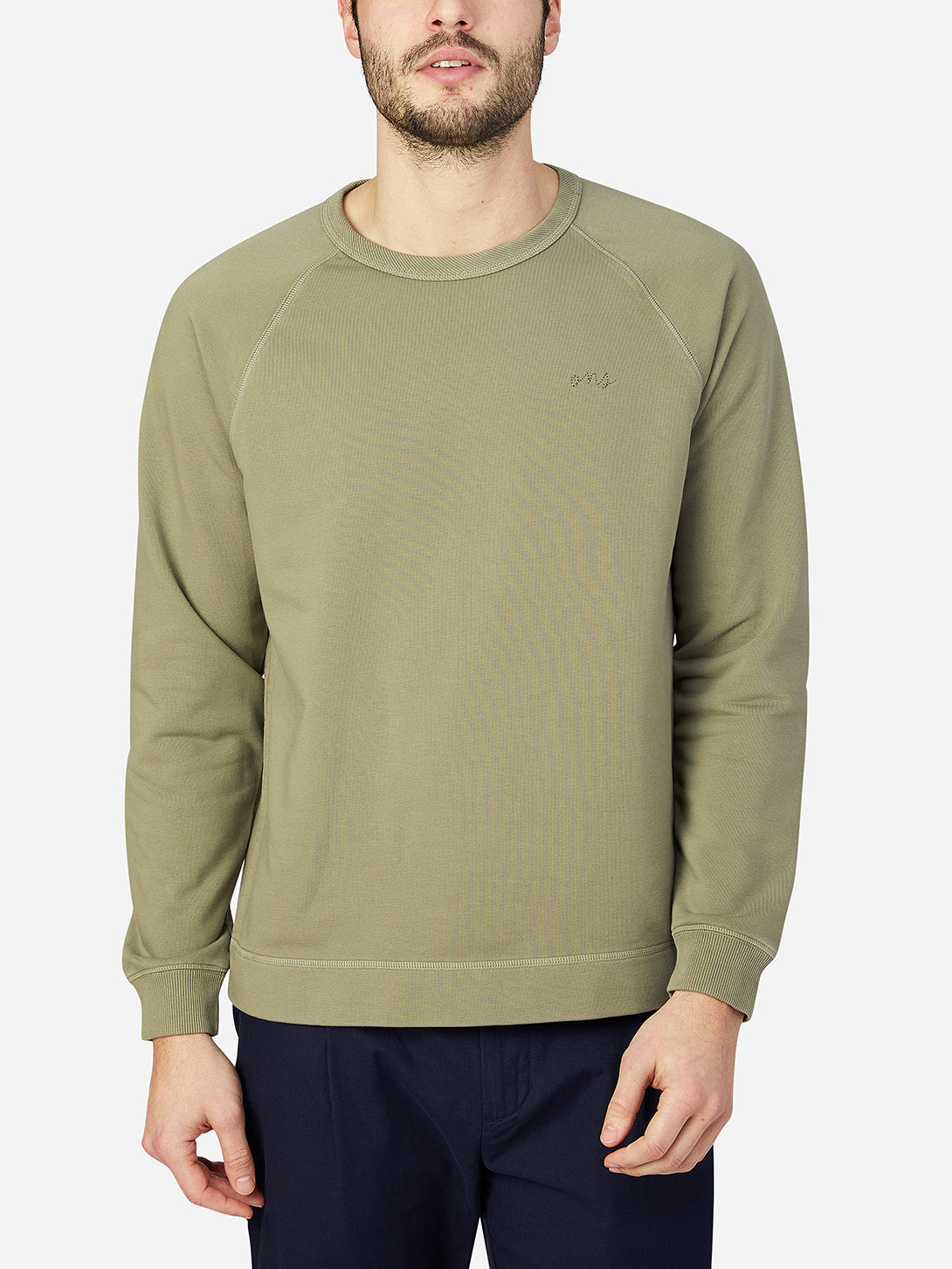 black friday deals ONS Clothing Men's Sweatshirt in LIGHT OLIVE GREEN