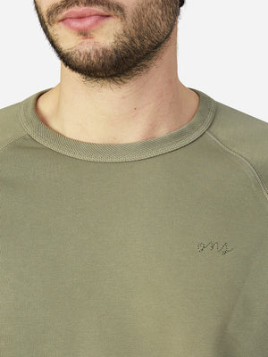 black friday deals ONS Clothing Men's Sweatshirt in LIGHT OLIVE