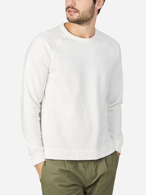 WHITE long sleeve shirt for men deon crew neck pullover ons clothing