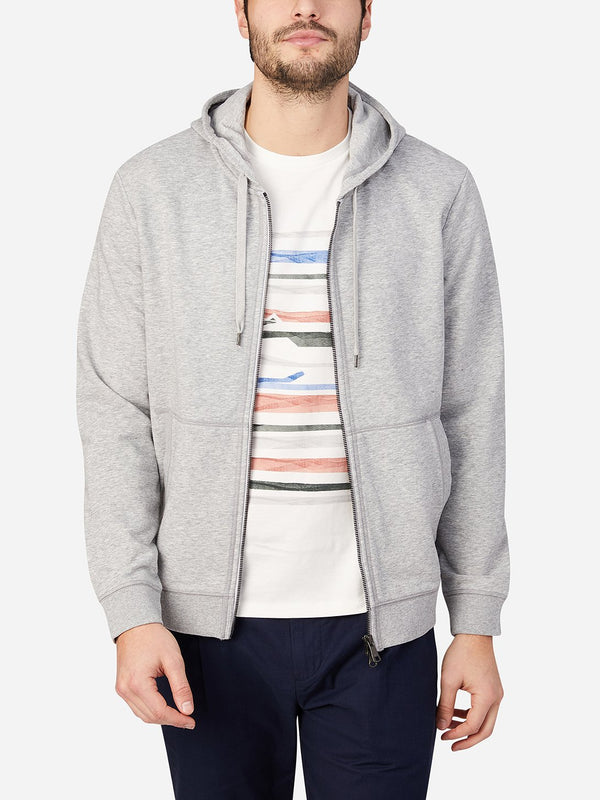 HEATHER GRAY zip sweatshirt for men zip hoodie ons clothing