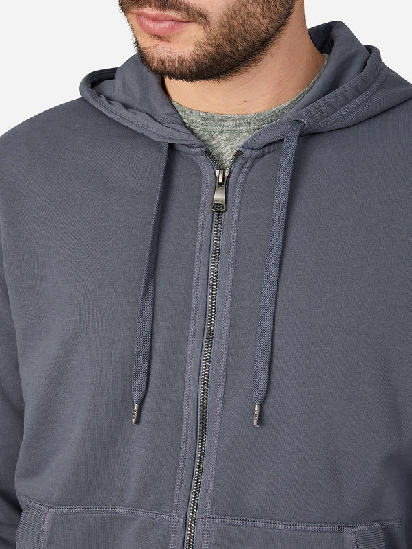INDIGO zip sweatshirt for men zip hoodie ons clothing