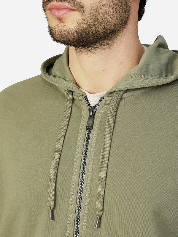 OLIVE GREEN zip sweatshirt for men zip hoodie ons clothing
