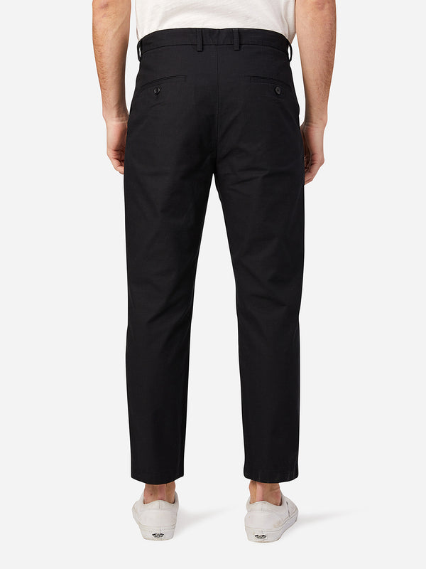 JET BLACK pleated pants for men niles cotton trouser by ons clothing