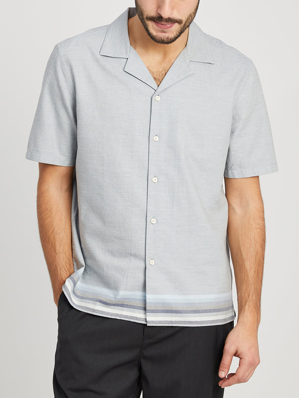 HEATHER BLUE STRIPE shirts for men rockaway jacquard stripe ons clothing