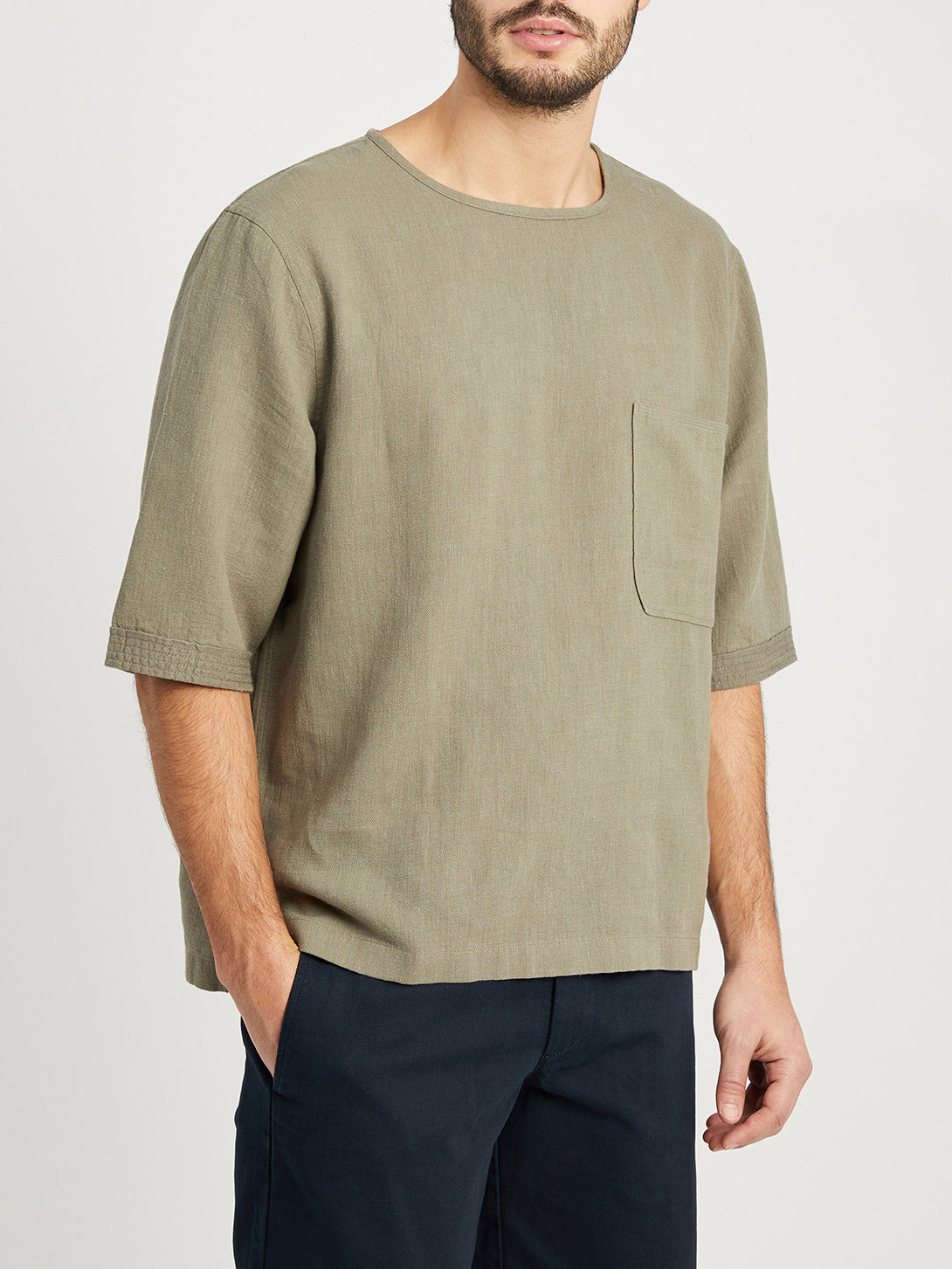 LIGHT GREEN t shirts for men baseile pocket tee ons clothing