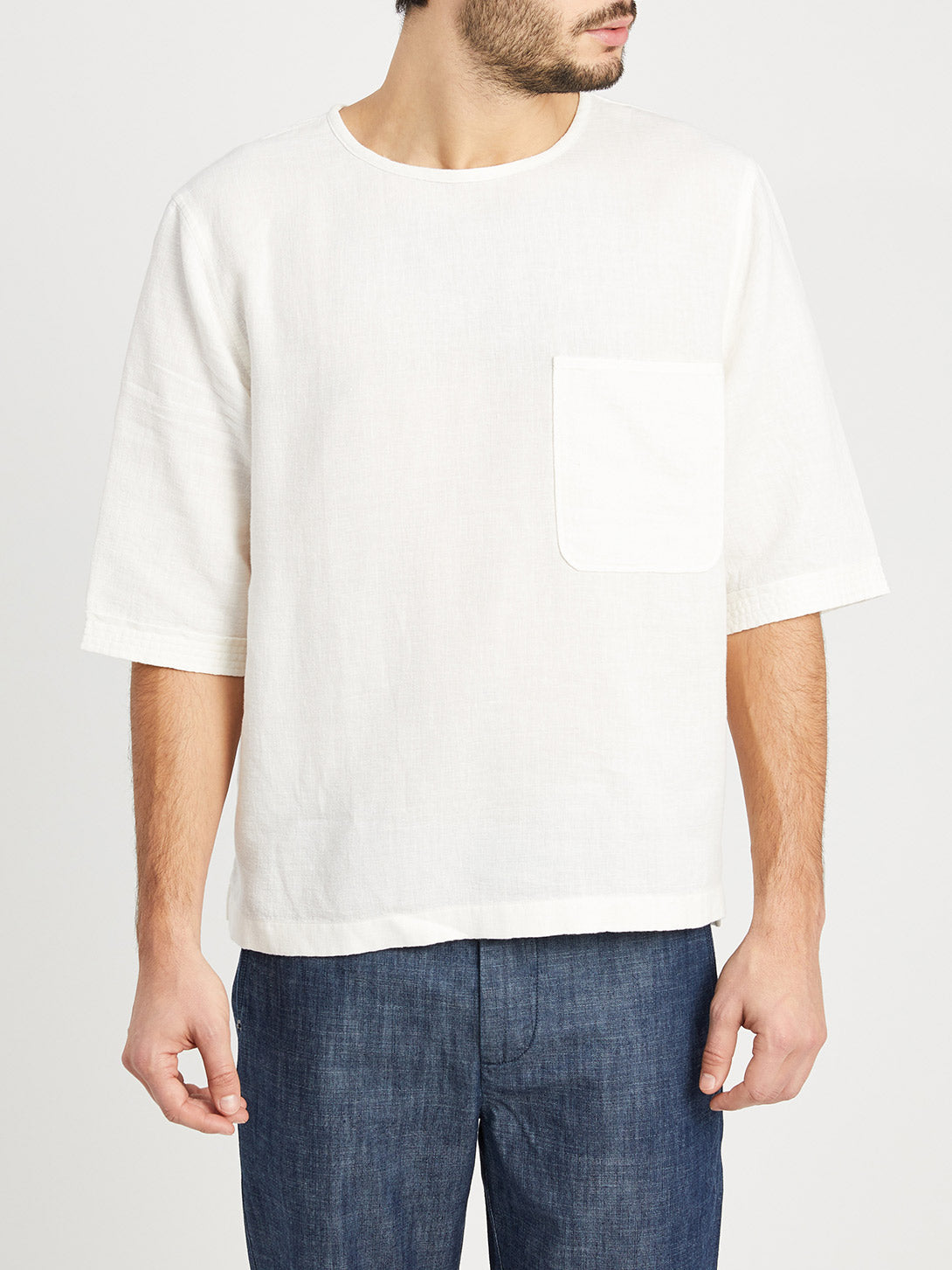 WHITE t shirts for men baseile pocket tee ons clothing