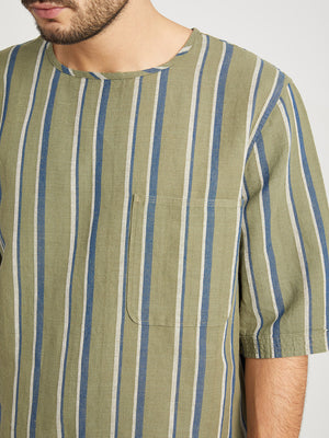 GREEN STRIPE t shirts for men brexton stripe pocket tee ons clothing