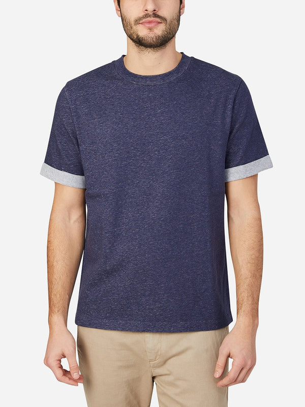 HEATHER NAVY short sleeve crew neck t shirt archer tee light heather grey