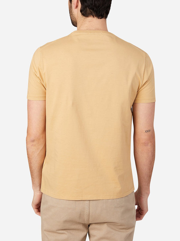 CAMEL t shirts for men village crew neck tee ons clothing