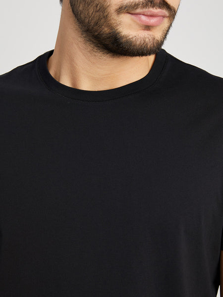 JET BLACK t shirts for men village crew neck tee ons clothing