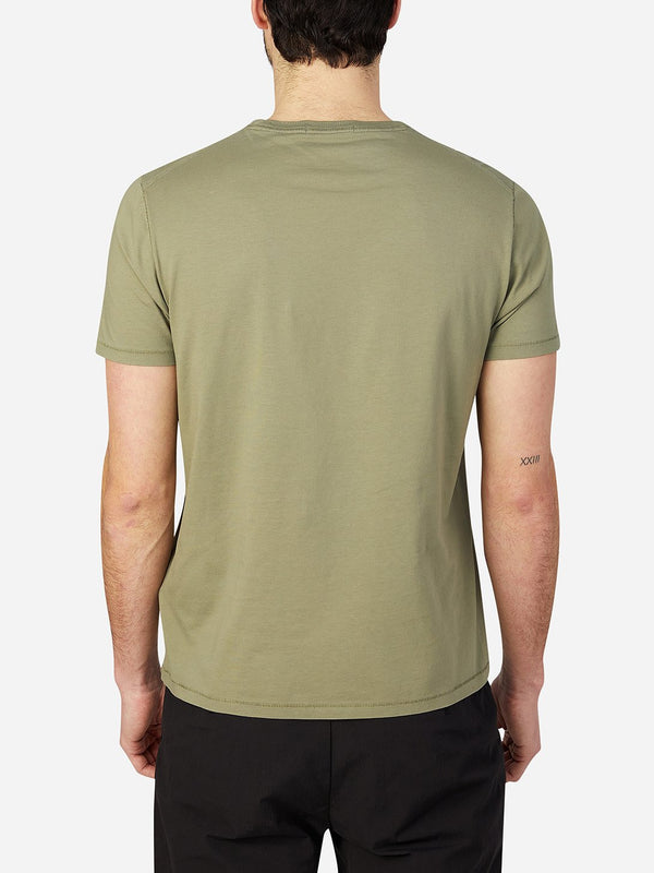 OLIVE GREEN t shirts for men village crew neck tee ons clothing