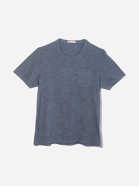 BLUE STRIPE t shirts for men bowery stripe pocket tee ons clothing
