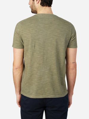 GREEN STRIPE t shirts for men bowery stripe pocket tee ons clothing